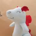 "Dragon soft toy ""Larry"". Powder Blue and Red"
