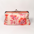 Wild garden in sorbet large clutch purse