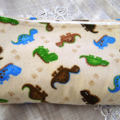 Flannelette Baby Wrap. Double Sided. Dinosaurs.
