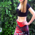 cherry blossom print, skirt for girls, skirts for teens, skirts for women, red