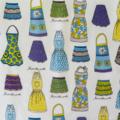 Half Apron Retro 50's Ladies apron - Kiss the Cook lined apron