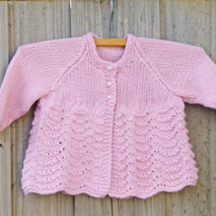 Pretty pink bamboo/wool cardigan size 1