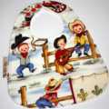 """Lil Cowpokes""Cotton Bib Buy 3 bibs get the 4th free and free post"