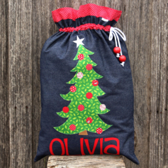 Denim Santa Sack