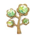 Kimono Tree Brooch - Spring Greens