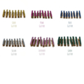 Your Choice - 16 Mini Pegs. 25 mm Long. Washi Tape Covered.
