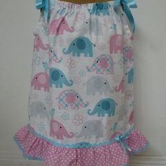 """Size 6 months - """"Cute Elephants"""" Dress and Frilly Pants"""