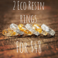 2 x faceted Eco resin stacking rings for $48