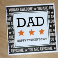 Modern Father's Day Card - Awesome Dad - handmade for any age DAD