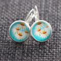 Daisy Print ~ Lever Back Earrings