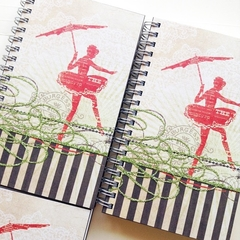 Ballerina Notebook, Journal, Sketch Book, Diary, Blank Book, Writer Gift