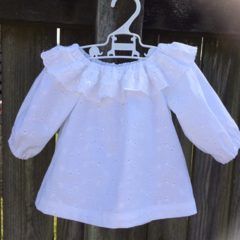 Pretty swing top , broderie anglaise, long sleeve .
