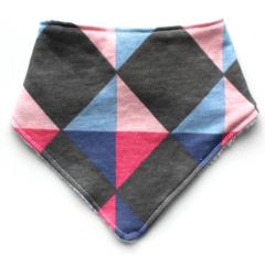 Pink Geometric bandana bib