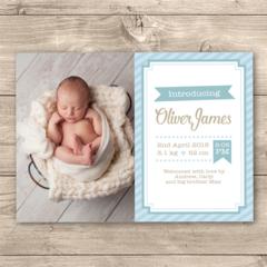 Personalised Boys Birth Announcement Photo Printable (Digital File)