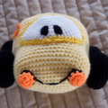 Herbie the crochet toy Volkswagen Beetle by CuddleCorner: Car, washable, unisex