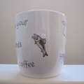 Hand painted mug for the fisherman who loves his coffee