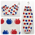 Plastic Bag Holder/ Grocery Bag Holder/ Bag Dispenser - Apples