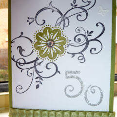 50th birthday Swirl Handmade Card - FREE POSTAGE
