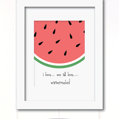 watermelon love print