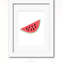 watermelon slice print