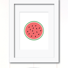watermelon half print