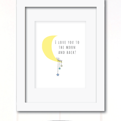 love you to the moon and back boys print