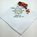 Handkerchief, Hanky for Dad with a Sentimental Verse.