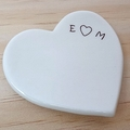 Personalised wedding ring dish, ring holder, Ceramic bowl. Ring pillow.