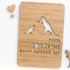 You're Roarsome Father's Day Card, Bamboo Card, Card For Dad, Card For Him