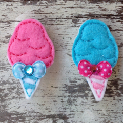 "2"" Felt Fairy Floss Hair Clips"