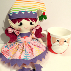 Little Miss Christmas Elf. One of a kind.