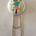 Cute Owl Button Paperclip Bookmark