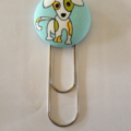 Cute Dog Button Paperclip Bookmark