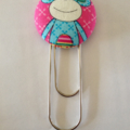 Monkey Button Paperclip Bookmark