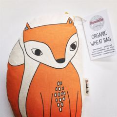 Fox Wheat Bag ORGANIC WHEAT - Illustrated by Rondelle Douglas