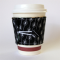 Coffee Cup Cuff - Black & White Monochrome Dots & Lines