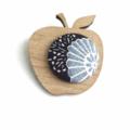 Kimono Apple Brooch - Blue Shades
