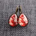 Cherry Blossom ~ Smaller Teardrop Lever Back Earrings
