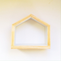 Little HOUSE wood pine wooden shadow box shelf