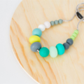 Washable MIX Bead Silicone Necklace EMERALD