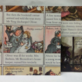 Set of 5 Envelopes,Charles Dickens and Friends book page Stationery Envelopes.