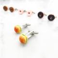 Cufflinks - Burgers - Hamburger Unisex Cufflinks - food jewelry