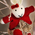 Coralie - Hand Knitted Bunny
