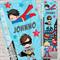 SUPERHERO DRESS-UP BOYS Personalised Fabric Height Growth Chart 30x106cm