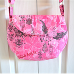Cross body bag for teen, pink angel heart sling bag
