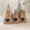 100 x Hessian Party Favour Bags with Navy Heart