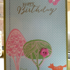 Woodland Kids Birthday Handmade Card