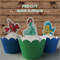 12 x Little Mermaid Ariel and Friends EDIBLE wafer stand up toppers PRE-CUT