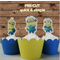 12x Minions EDIBLE wafer stand up toppers PRE-CUT