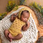 SALE Mohair Overalls and Bonnet Set / Newborn Photography Prop / Unisex